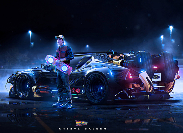 Futuristic DeLorean