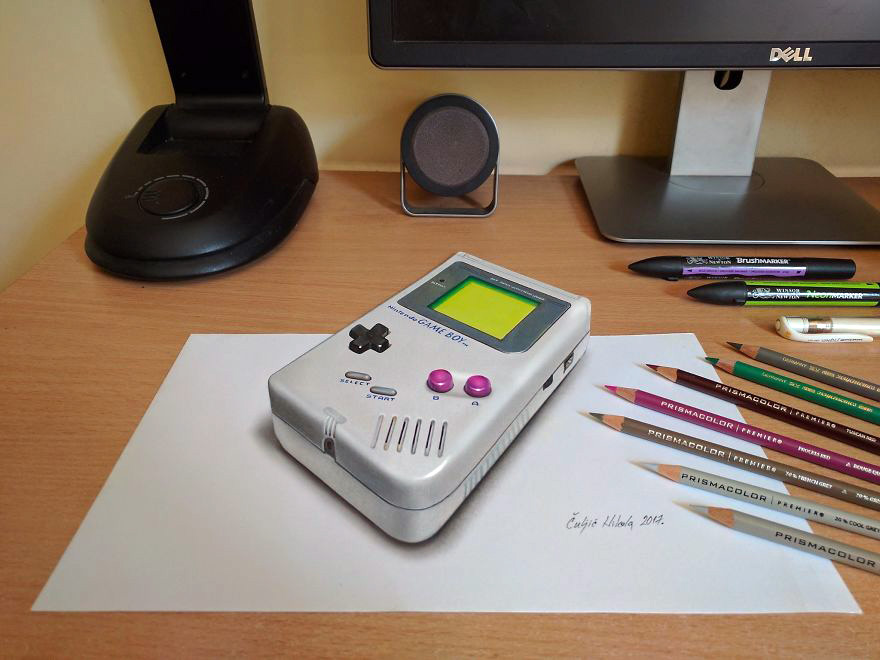 Nintendo Game Boy And 10 More Amazing 3d Optical Illusion