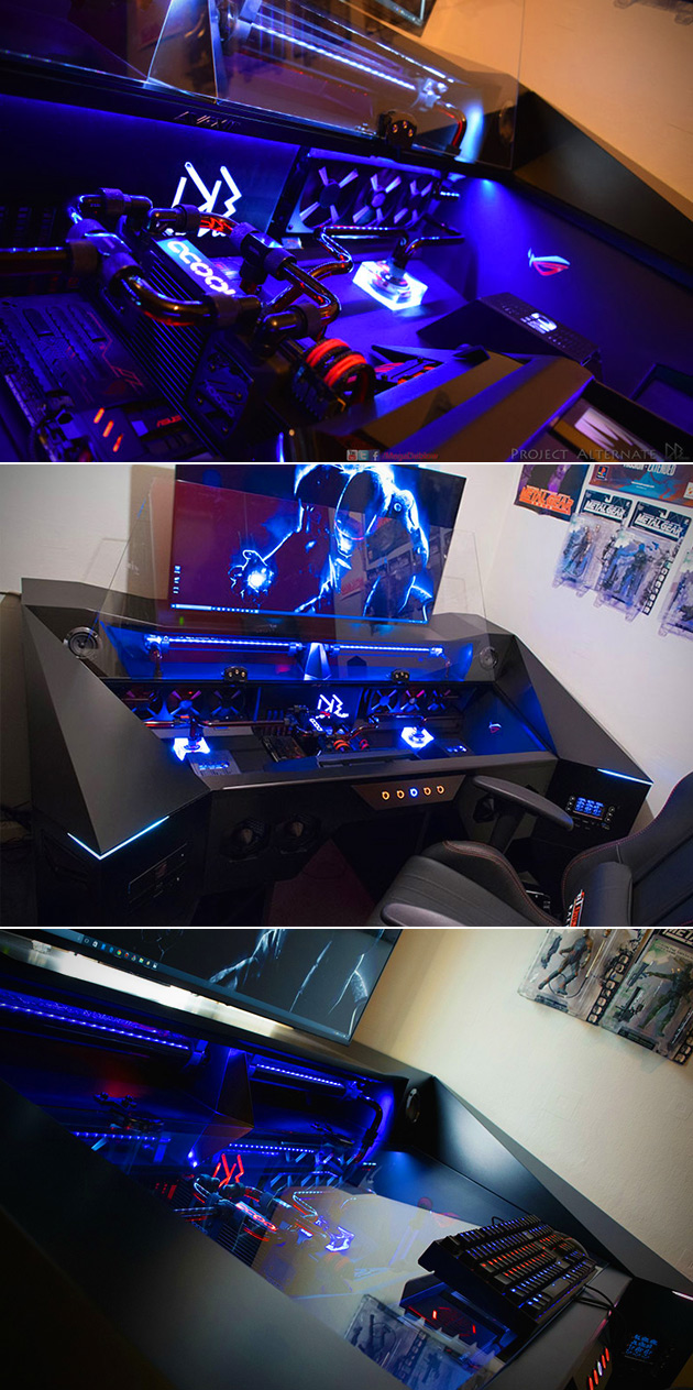 Gaming PC in a Desk