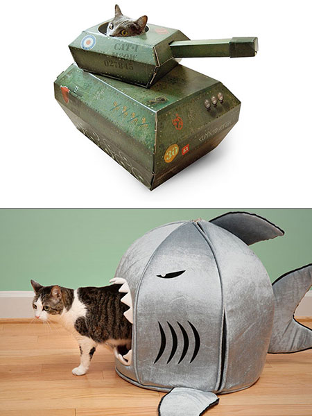 Stupendous 24 Creative And Geeky Cat Homes Techeblog Download Free Architecture Designs Rallybritishbridgeorg