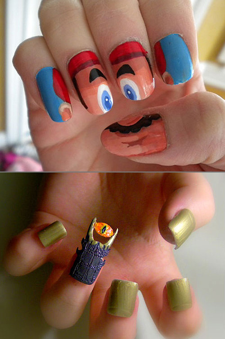 geekynails.jpg - Top 10 Geekiest Nail Designs – TechEBlog