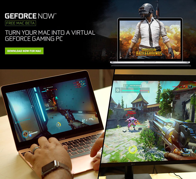 GeForce Now MacBook Gaming