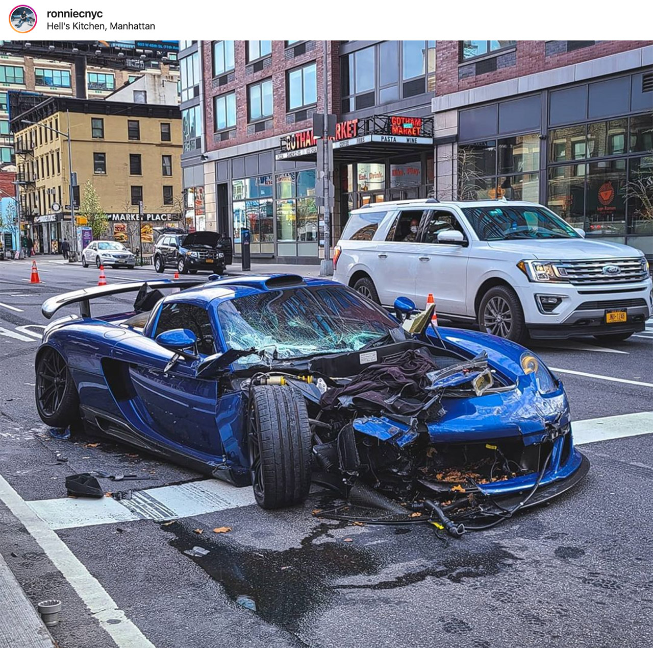 Gemballa Mirage GT Ben Chen NYC Accident