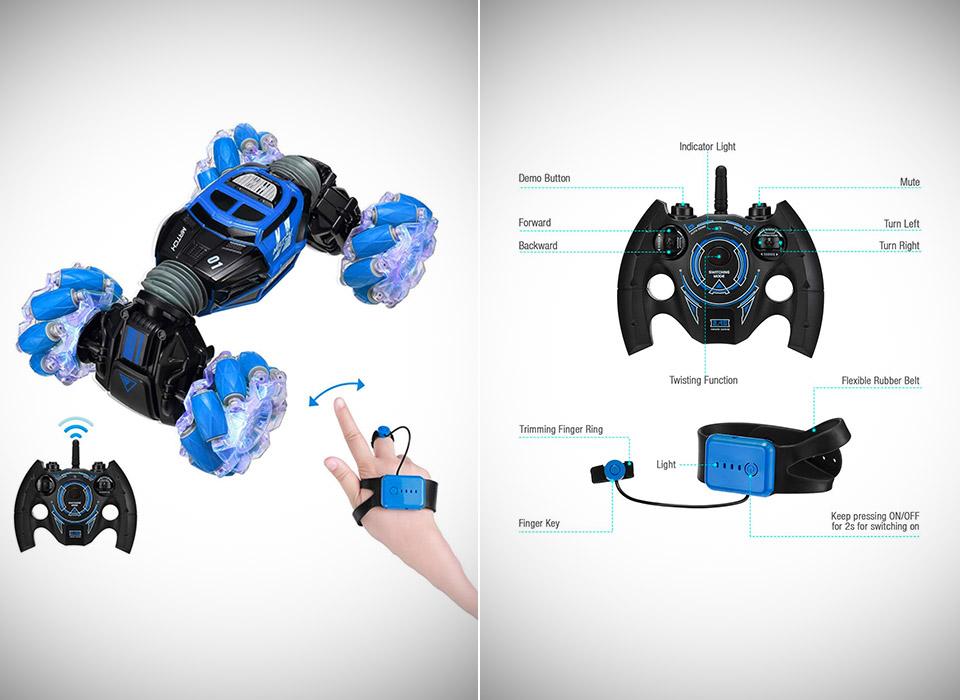 Gesture-Sensing RC Stunt Car