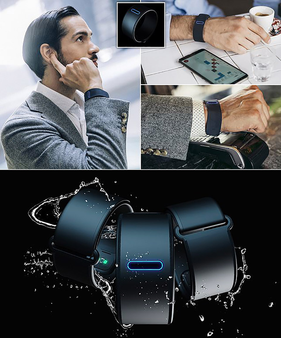 Get Bracelet Bone Conduction Finger Phone