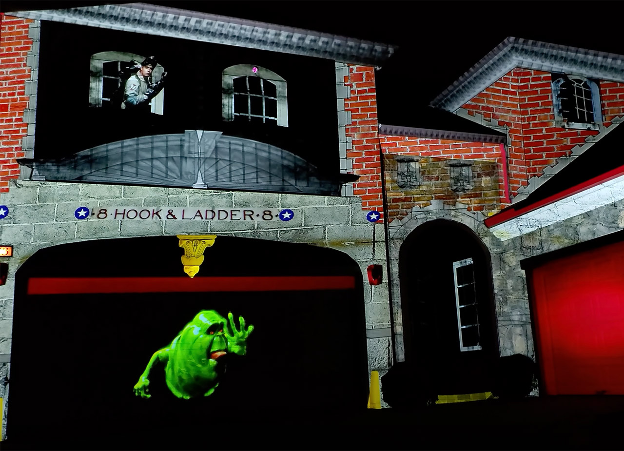Ghostbusters Afterlife Movie House Projection Halloween 2021