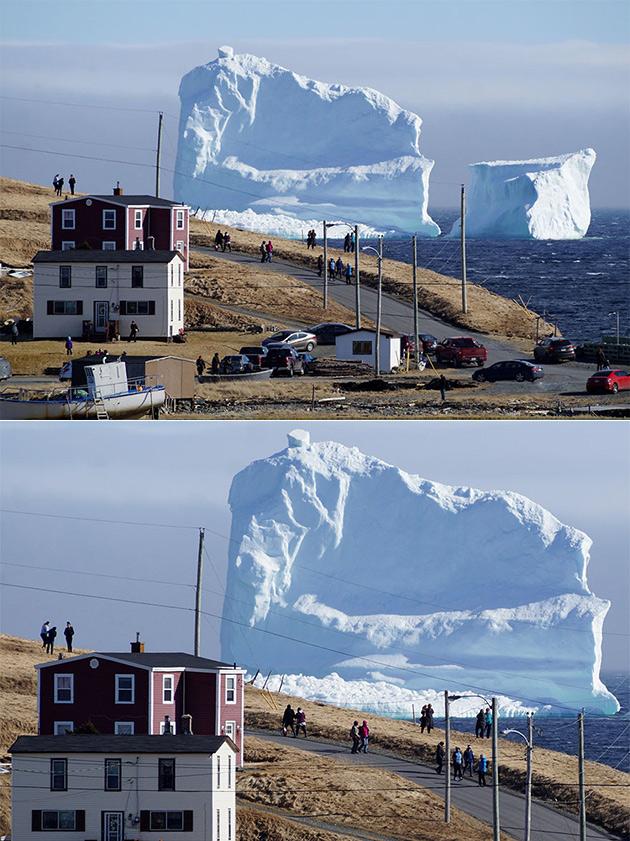 Tes Yeux ne Sont pas en Jouant des Tours, Ce Géant de 150 Pieds Iceberg Flottant dans une Petite Ville