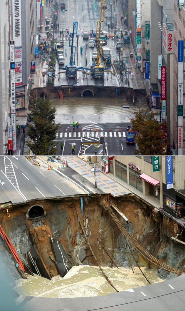 Giant Sinkhole Japan