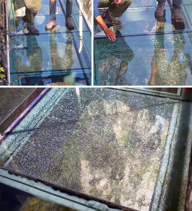 Glass Bridge Cracks China