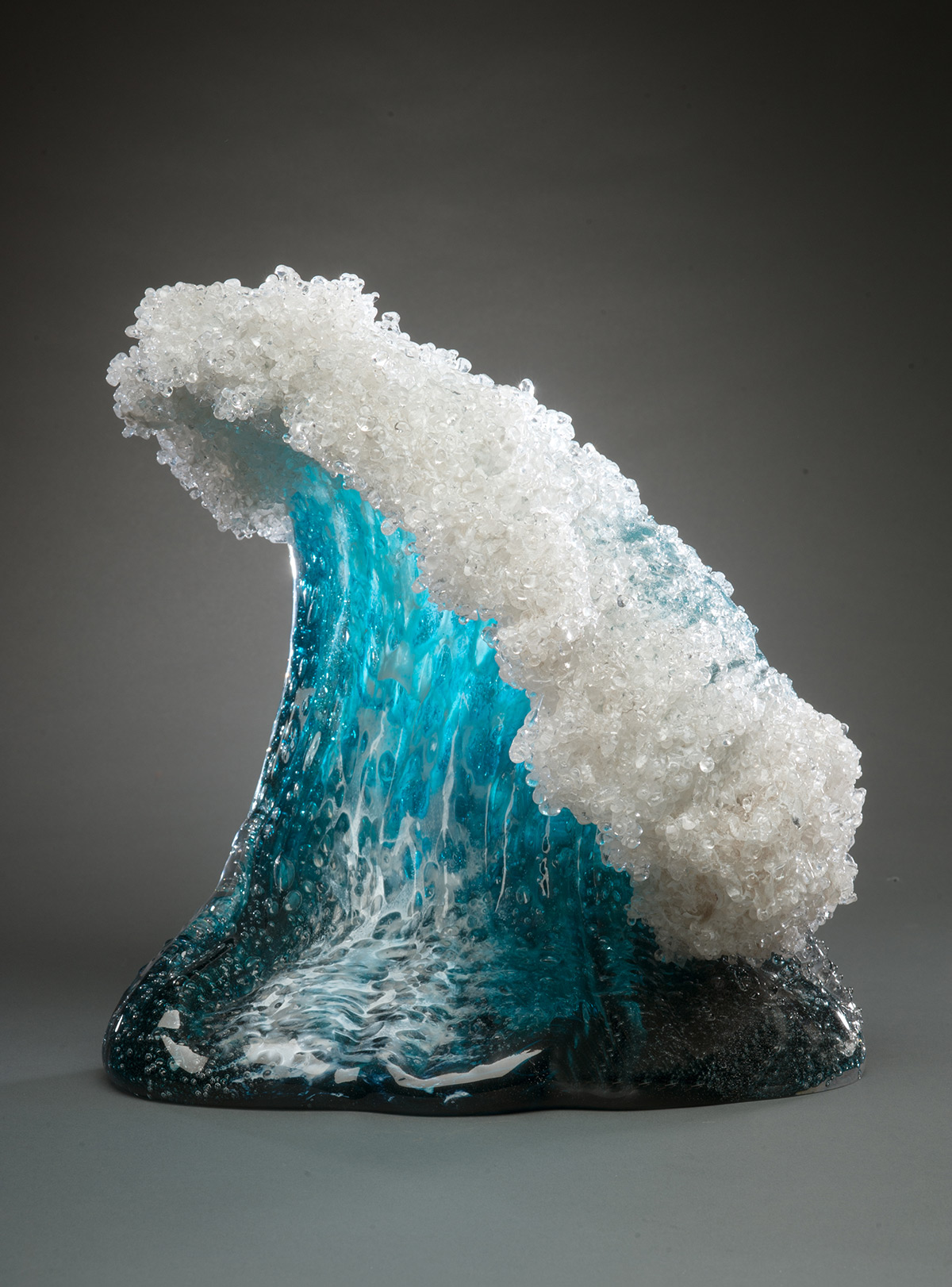 Glass Wave Sculptures