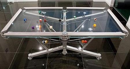 Glass Pool Table TechEBlog - Rolling pool table