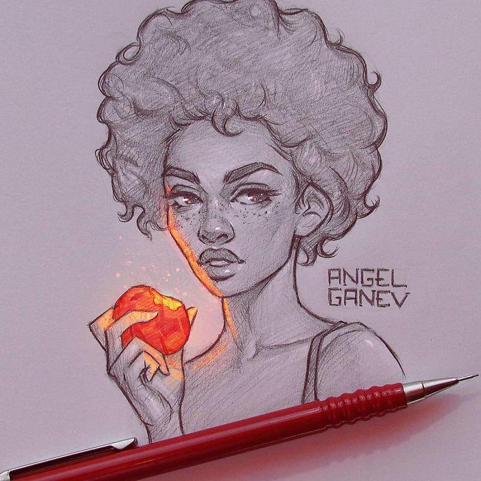 A artista Usa Lápis e a Luz, Não com Photoshop, para Criar Esses Incríveis Ilustrações Brilhantes