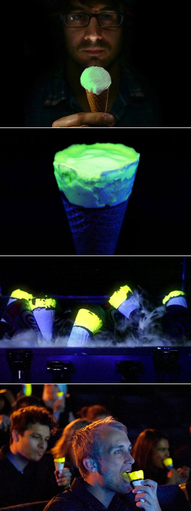 Glow-in-the-Dark Ice Cream