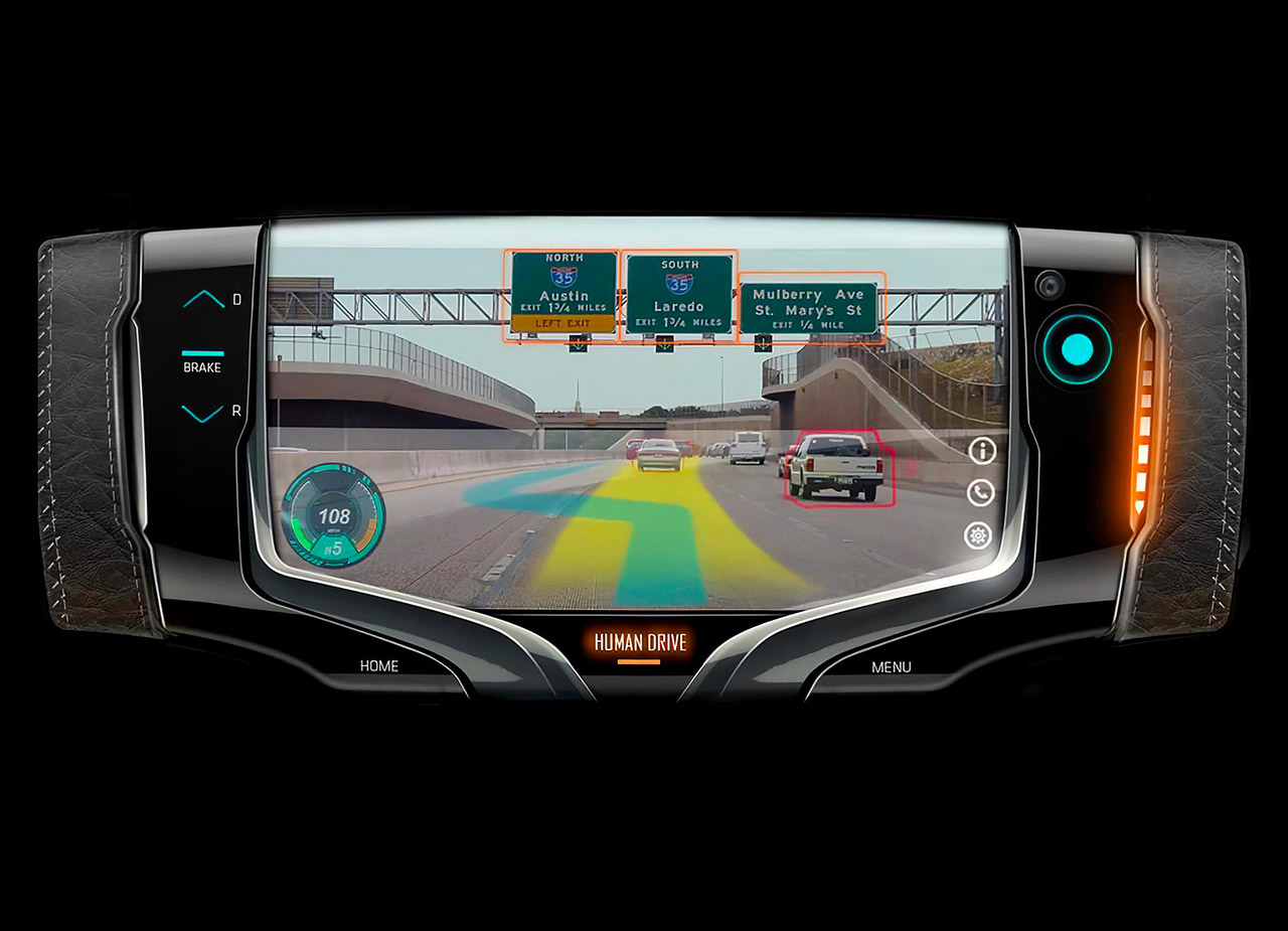 GM Design Steering Wheel Concept Switch