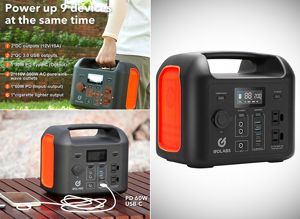 GOLABS R300 Portable Power Station