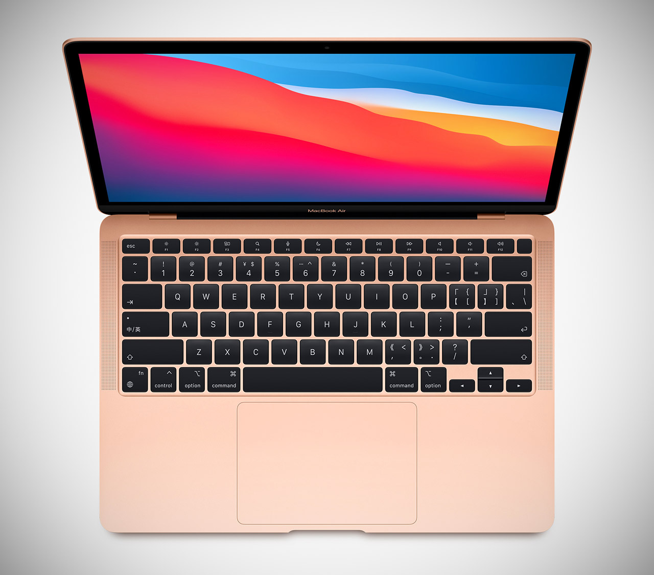 Gold Apple MacBook Air Laptop M1 256GB SSD 2021
