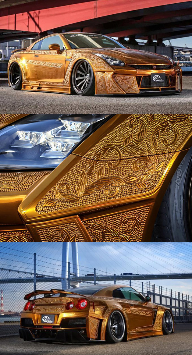 Gold Engraved GT-R