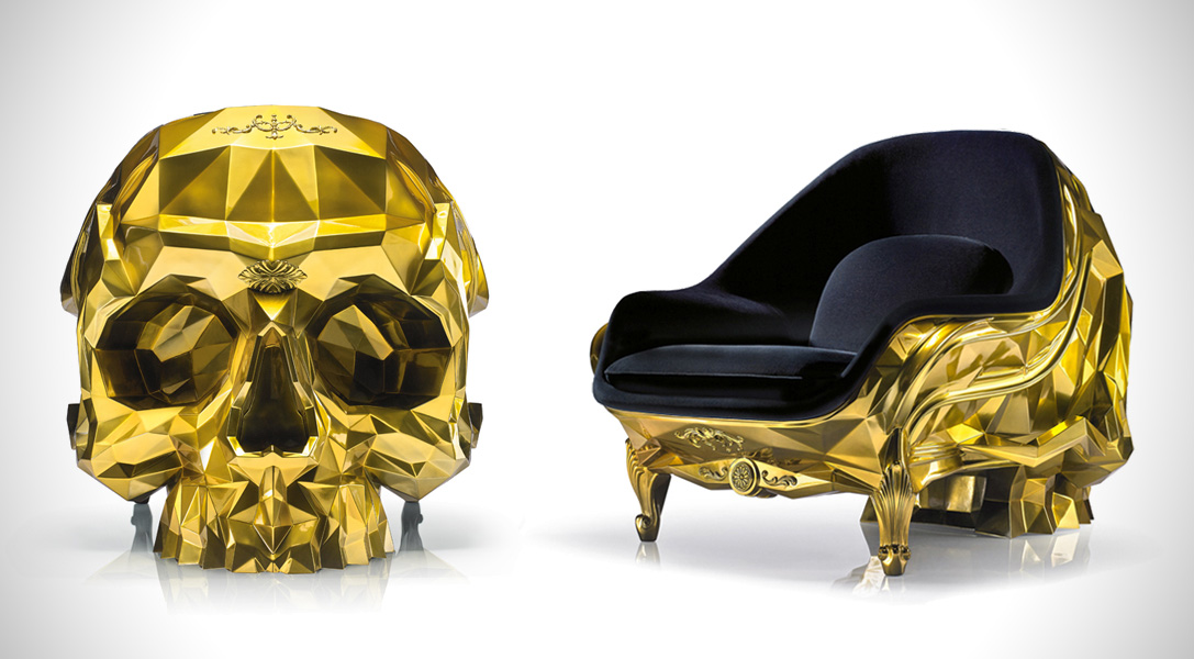 24-Karat Gold Skull Armchair Costs $500,000, is Perfect ...