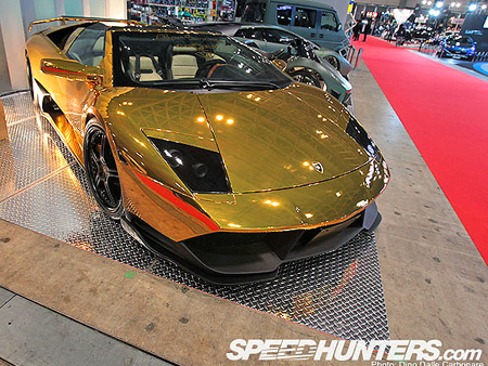 Worldu0027s First And Only Golden Lamborghini Murcielago Spotted