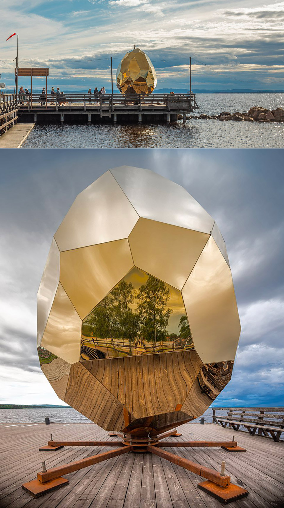 Golden Egg Solar Sauna