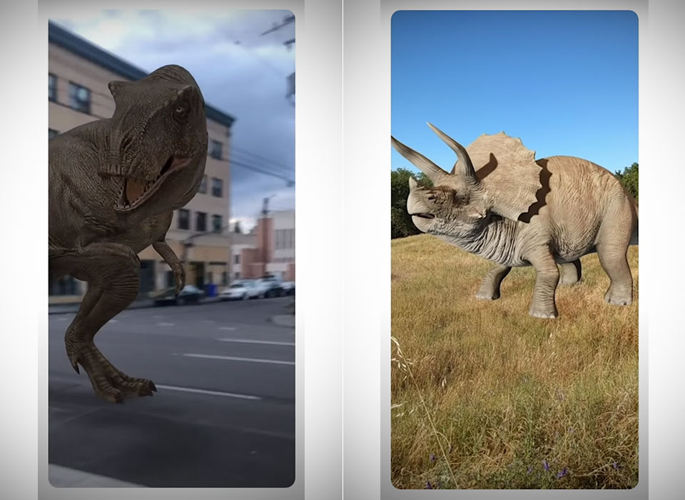 Google AR Jurassic World Dinosaur