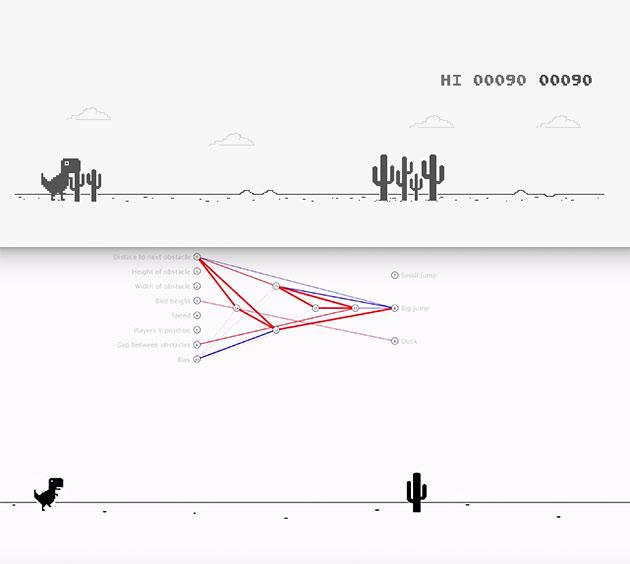 Programmer Trains AI to Play Google Chrome's Dinosaur Game