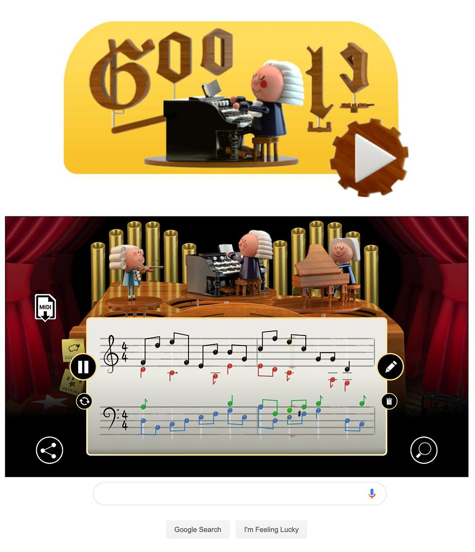 Google Doodle Artificial Intelligence Johann Sebastian Bach