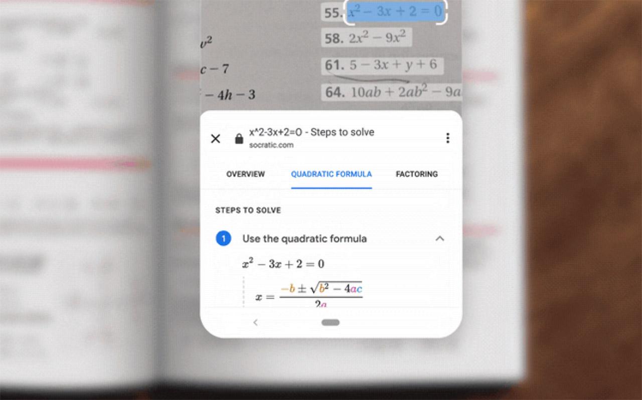 Google Lens Homework Filter Math