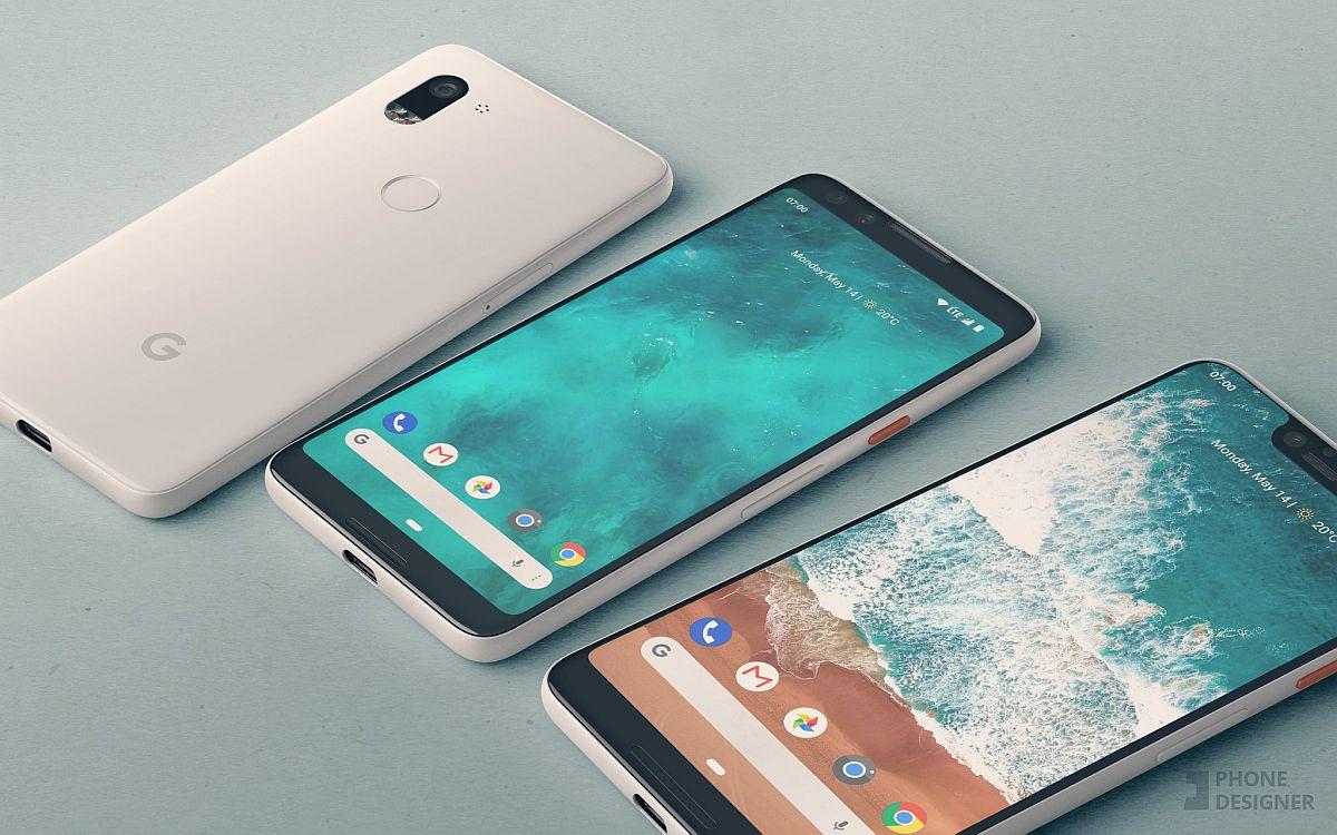 Google Pixel 3 And Pixel 3xl Smartphones Get Rendered Based On Leaked Images Techeblog