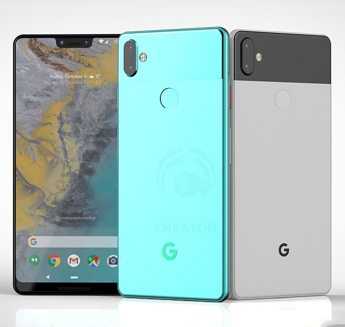 Google Pixel 3 XL Gets Rendered in New Video with Several Color