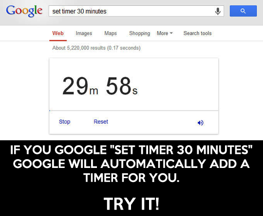 Google Tips Tricks Set Timer
