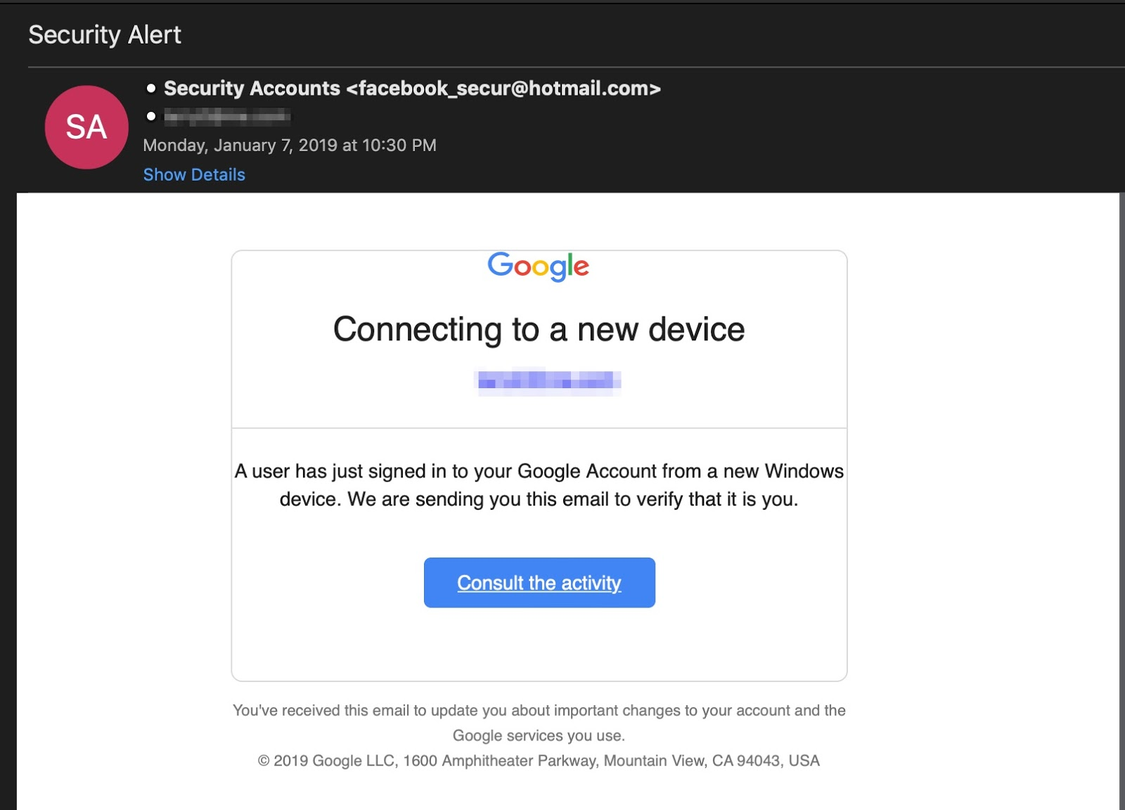Google Translate Phishing