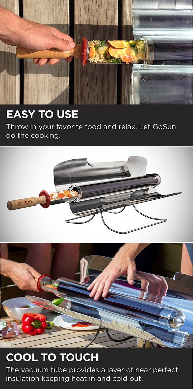 GoSun Portable Solar Oven Can Cook Almost Anything in Minutes Using Just the Sun