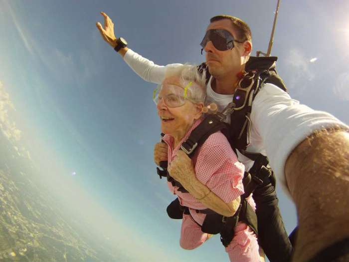 Grandma Skydiving