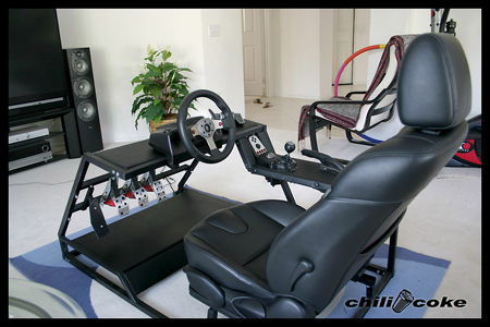 Custom Racing Wheels on Gamer Builds Incredible Gran Turismo 5 Racing Cockpit   Techeblog