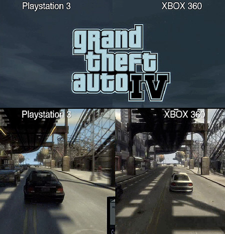Grand Theft Auto Iv Ps3 Vs Xbox 360 Graphics Comparison