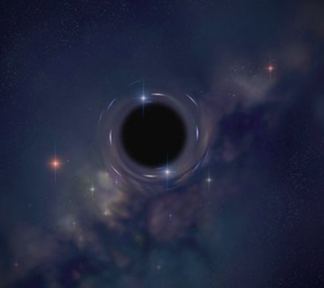 gravitational lensing of a black hole -#main