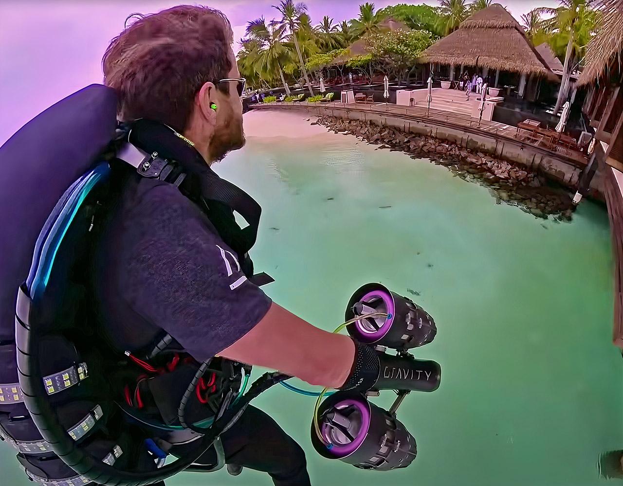Gravity Industries Jet Suit Maldives