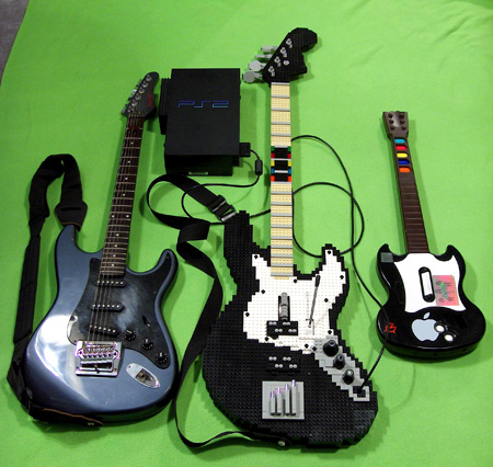 Unlike Its Predecessor This Full Sized PlayStation 2 Compatible LEGO Guitar Hero Controller Was Modeled After A Real Fender
