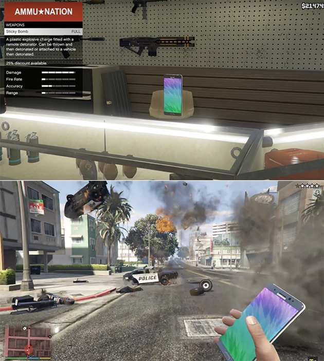 GTA 5 Galaxy Note 7