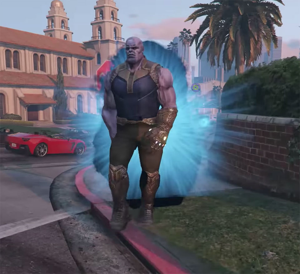 GTA V Thanos Script Mod Features Infinity Gauntlet, Turns Things Into Water and Animals