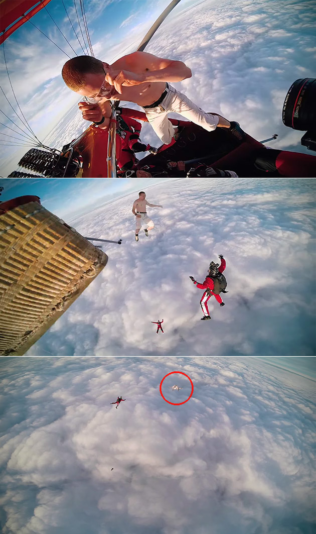 Guy Skydives Without Parachute