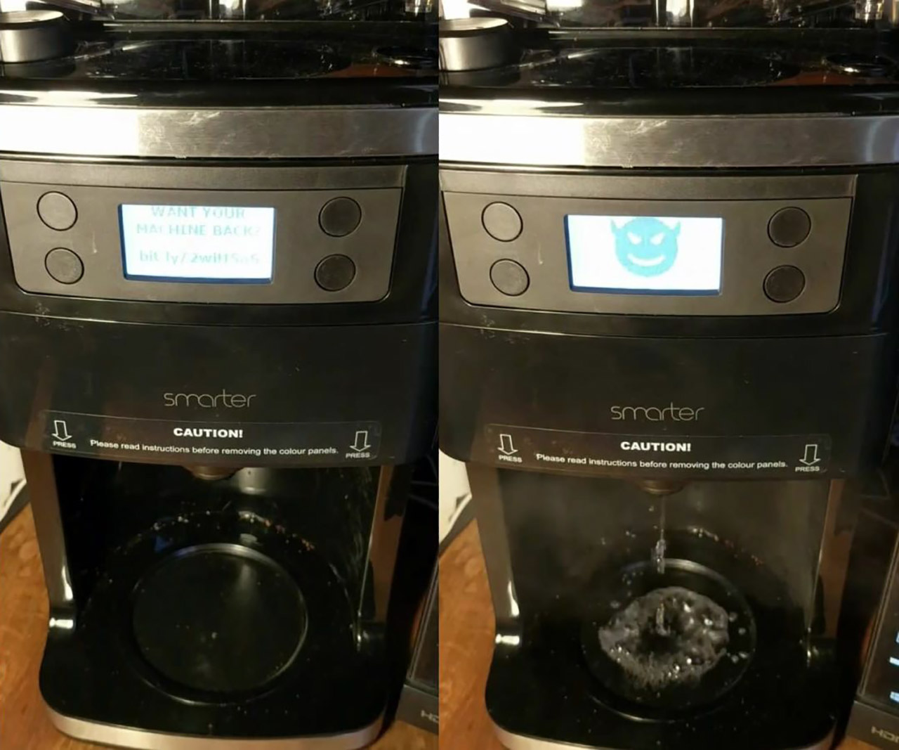 Hacked Coffee Maker Ransom