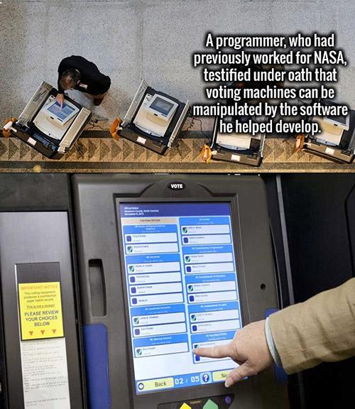 Hacking Voting Machine