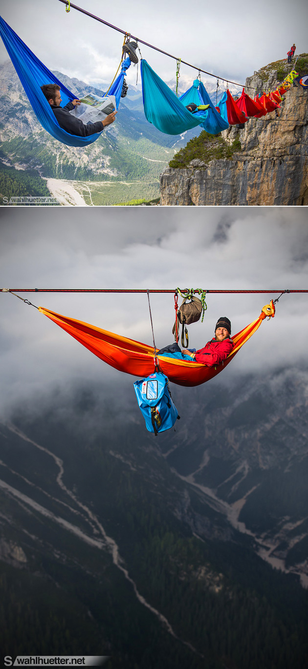 Hammocks Suspended Above Ground