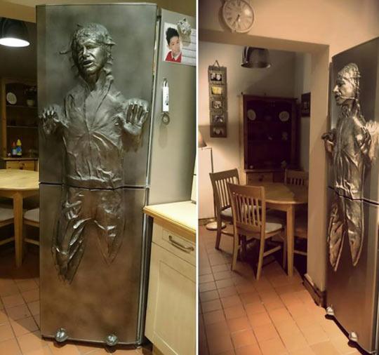 Han Solo Frozen in Carbonite Refrigerator