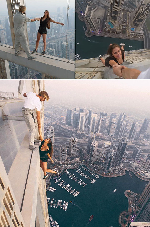 Hanging Off Skyscraper