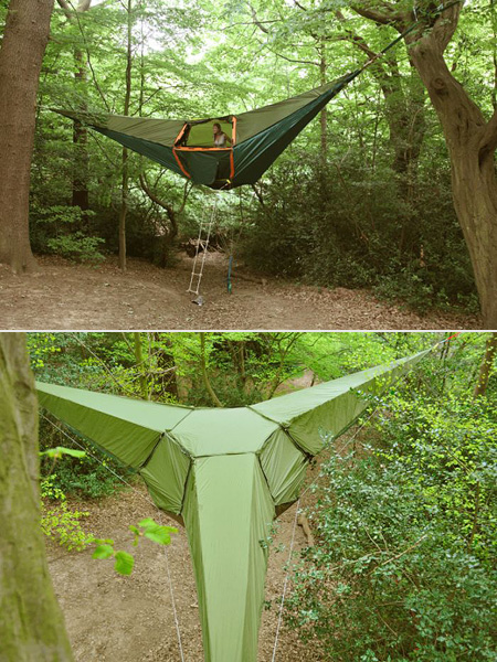 C&ing just got a lot cooler thanks to these incredible hanging tents. Unlike the portaledge this is designed to safely hang from a tree and has enough ... & Incredible Hanging Tent - TechEBlog