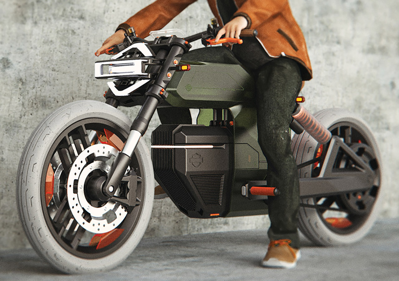 Harley Davidson Revival Electric Motorcycle
