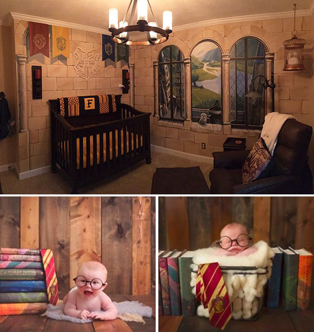 Dad Builds Harry Potter Themed Nursery For His Baby Son